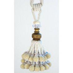 Xia Home Fashions Pom Pom Ball Tassel Curtain Tieback Color: