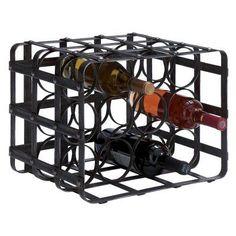 Woodland Imports Cube Crate Metal 12 Bottle Wine Rack - 54404