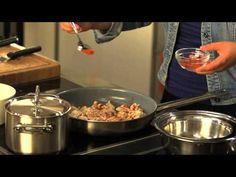 Csirke stroganoff módra