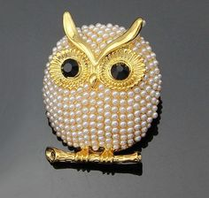 Eule Perlen Brosche Jewerly Strass Tuch Schuhe Tasche Diy Blumen Zubehör H021 Von