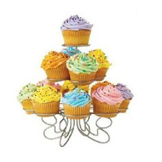 DimsumShop 3 Layers Iron Cake Stand 13 Cupcake Holder Cup Tray ** Continue to the product at the image link.(This is an Amazon affiliate link and I receive a commission for the sales)