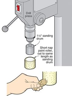 Paint rollers make great drill-press buffers