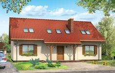 Projekt Iskierka jest domem o prostej bryle przykrytej dwuspadowym dachem. Stworzony został z myślą o cztero-pięcioosobowej rodzinie. Brak okien w elewacjach bocznych pozwala wybudować go na działce o szerokości 20,7 m. Na parterze zaprojektowano duży salon z kominkiem (dodatkowy kominek na tarasie) połączony z jadalnią i dwa pokoje.