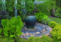 spilling urn water feature