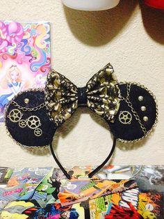 Steampunk Disney Ears by YubNub on Etsy, $20.00