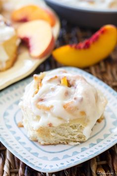 These fluffy cinnamon rolls are filled with fresh peaches, peach jam, and topped with a rich cream cheese glaze. These peaches and cream cinnamon rolls are love at first bite.