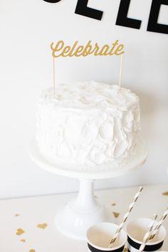 Celebrate Cake Topper | The TomKat Studio