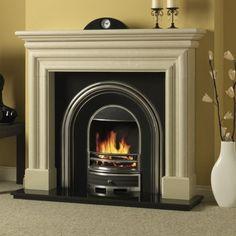 Multi Fuel Stove, Fire Surround, Fireplace Surrounds, Medium, Beige, Stoves, Wood, Fireplaces, Mocha