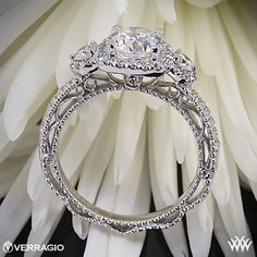 Verragio Setting...Favorite! VENETIAN-5025CU engagement ring from the Venetian Collection, featuring 0.50Ct. of round brilliant diamonds to enhance a round diamond center. Starting Price: $3,600