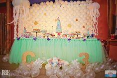 Decoração sofisticada da festa da Ariel