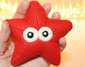 Red Felt Starfish