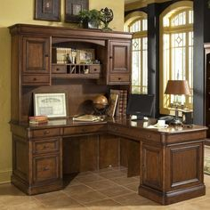 amazoncom whalen villa tuscano l shaped desk with hutch office products