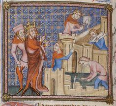 Vincent de Beauvais, Speculum historiale, traduction française par Jean de Vignay. Vol. I (Livres I-VII)  Date d'édition :  1370-1380  NAF 15939  Folio 36v