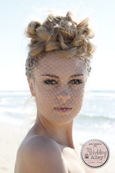 Simply stunning x  From Issue 4 of The Wedding Alley Birdcage veil by Elizabeth de Varga  Photography by @masterpiecespv piecespv   Hair by Aleesha Darke  Makeup by Suzi Dent Model - Reagan Katz Models  #birdcageveil #wedding #weddings #weddinghair #weddingmakeup #bridalhair #bridalmakeup #bride #bridetobe #beachwedding #beach #seasidewedding #love #instagood #picoftheday #weddingphotography #beachphotography #fashion #plait #braid #gettingmarried #engaged #gettinghitched