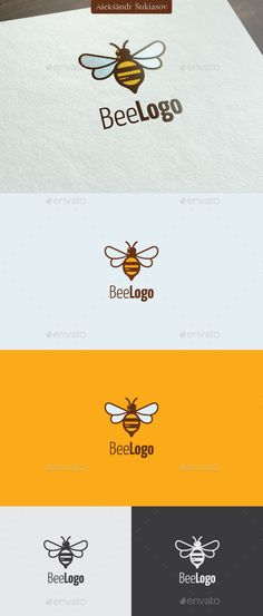 Bee Logo Template #design #logotype Download: http://graphicriver.net/item/bee-logo/13207624?ref=ksioks