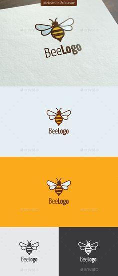Bee Logo Template #design #logotype Download: http://graphicriver.net/item/bee-logo/13207624?ref=ksioks