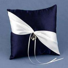 Anchors Away Ring Bearer Pillow - Photo