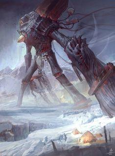 Parasite Giant by Travis-Anderson on DeviantArt Space Junk, Dantes Inferno, Humanoid Creatures, Dnd Monsters, Warhammer Fantasy, Deviantart, Fantasy Creatures, Dark Fantasy, Online Art Gallery