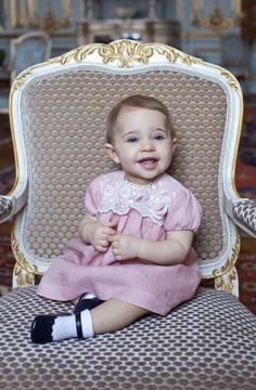 New photo released of Princess Leonore of Sweden, Duchess of Gotland in celebration of her 1st birthday. 2/20/2015