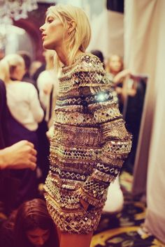 cozy + sparkly + slouchy... it's the sweater of my dreams