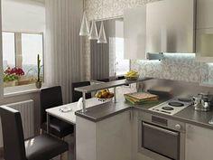 Необычная расстановка мебели на маленькой кухне