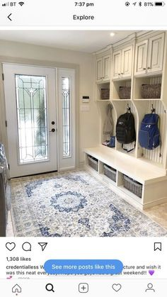 Ideas laundry 7 Ways to Make a Perfect Mudroom You Should Know Great Mudroom Space. Just Like It.Organization Ideas laundry 7 Ways to Make a Perfect Mudroom You Should Know Great Mudroom Space. Just Like It. Small Mudroom Ideas, Entryway Ideas, Entryway Storage, Entryway Organization, Interior Design Living Room, Living Room Designs, Interior Livingroom, Mudroom Laundry Room, Mudroom Cubbies