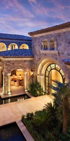 Old World, Mediterranean, Italian, Spanish Tuscan Homes Decor - Luxury Homes