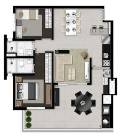 Apartment Plans, Apartment Design, Duplex House Plans, Layout, Hotel Suites, Geometric Designs, Home And Living, Home Projects, Townhouse