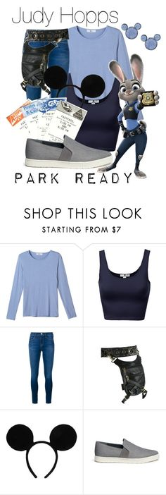 """""""Judy Hopps: Park Ready"""" by laniocracy on Polyvore featuring Frame Denim, Holster, Disney, Vince and disneyland"""