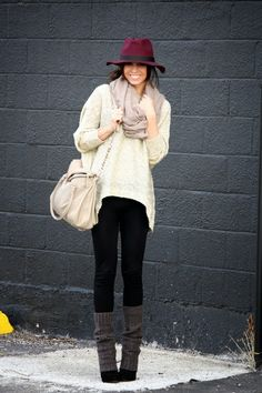 We love this yummy mummy outfit. Recreate it in New Look or Peacocks..