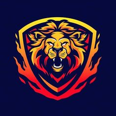 Lion Images, Lion Pictures, Lion Wallpaper, Framed Wallpaper, Lion Drawing, Game Logo Design, Lion Design, Sports Team Logos, Lion Logo
