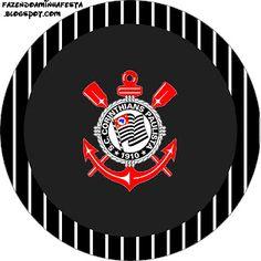 Rótulos para: Latinha,Gelatina,Tampinhas,Adesivos,Marmita Redonda e Toppers Cupcakes Corinthians: