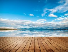 horizon, texture, landscape, wood, blue, clouds