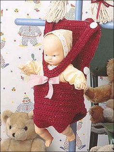Free crochet pattern for Baby Doll Backpack