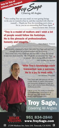 Troy Sage, helping Homeowners Avoid Foreclosure.