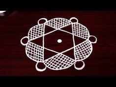 beautiful star rangoli designs with 5x3 dots - latest kolam designs - muggulu designs for beginners - YouTube
