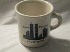 Vintage FISHS EDDY New York Skyline Pattern - Special Edition Twin Towers Mug by Homer Laughlin China | WorthPoint