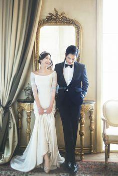 The best Korea pre-wedding photo shoots. STUDIO, S Pre Wedding Photoshoot, Wedding Pics, Wedding Shoot, Wedding Gowns, Professional Wedding Photography, Wedding Photography Poses, Korean Wedding, The Dress, Studio