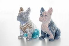 ABOUT - FRENCH BRUNO French Bulldog, Dinosaur Stuffed Animal, Butterfly, Sculpture, Crystals, Amazing, Dogs, Blue, Animals