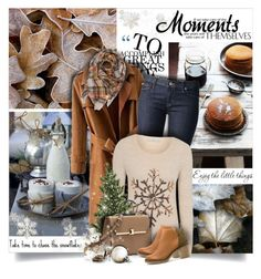 """""""Take Time to Chase the Snowflakes"""" by moomoofan1972 ❤ liked on Polyvore featuring Chicnova Fashion, Hudson Jeans, George and Miista"""