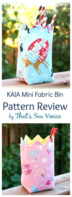 Absolutely Love That's Sew Venice's version of the KAIA Mini Fabric Bin Pattern by AppleGreen Cottage! And you simply MUST check out her smart pattern tracing tip - makes the project even quicker!