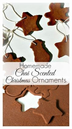 Housevegan.com: Homemade Chai Scented Christmas Ornaments - My favorite thing about these super easy homemade ornaments is definitely the smell that fills your home as they bake. You'll feel like you're drinking masala chai in a gingerbread house next to an apple orchard!