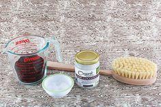 DIY Cellulite Coffee Scrub -  125g coffee grounds 6 tbsp coconut oil 3 tbsp sea salt pr sugar empty jar