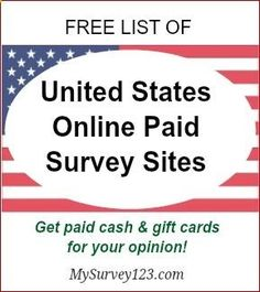 I have been taking online surveys for extra money since 2005 - and this is a list of best United States online paid survey sites that legit, free and actually pay! mysurvey123.com