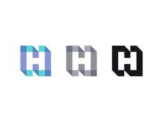 NH / HN by Kakha Kakhadzen #Design Popular #Dribbble #shots