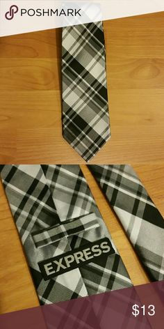 Express Plaid Tie New without tag. 100% silk. Express Accessories Ties