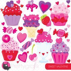 Valentine sweets dessert clipart commercial by Prettygrafikdesign