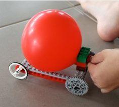 Balloon Powered Lego Car Craft   AllFreeKidsCrafts.com
