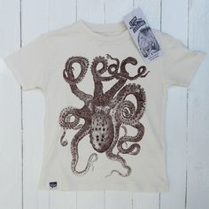Lion of Leisure ◊ Octopus Tshirt White www.cowboybilly.nl