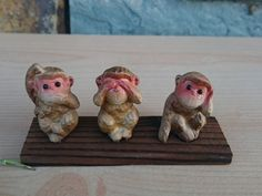 Three Wise Monkeys Figurine